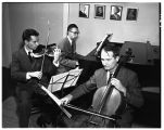 The Faculty Trio, music professors Raymond Vaught, Leonard Jacobsen, and Gordon Epperson, 1950