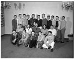Members of the Pre-Med Club, 1950