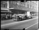 1949 homecoming parade in downtown Tacoma