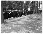 Commencement 1951 - Academic Procession to Memorial Fieldhouse