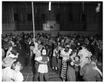Sadie Hawkins Dance in Warner Gym, 1949