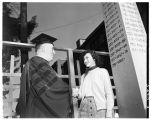 President Thompson welcomes freshmen. Sep 1951