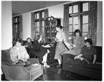 Women students in Anderson Hall, 1949