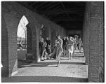 Students in the cloisters, 1949
