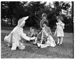 Easter egg hunt for faculty and staff children, 1949