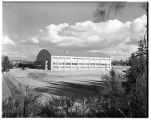 Memorial Fieldhouse in late stage of construction, 1949