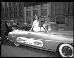 1948 homecoming parade in downtown Tacoma