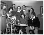 Art department faculty and students, 1949