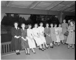 Chi Omega sorority installation, 1953