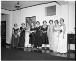 Alpha Phi sorority installation, 1953