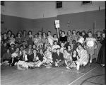 Sadie Hawkins Dance in Warner Gym, 1953