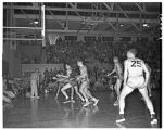 Basketball game with unidentified foe, 1949