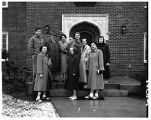 President Thompson and student leaders, 1951