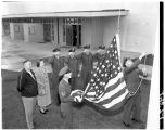 AFROTC flag-raising, 1951