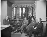 Meeting in the president's office, 1952