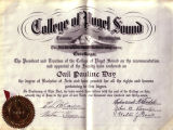 Diploma of Gail Pauline Day '37