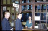 Students at the Cashier's window in Jones Hall, circa 1955