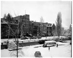 Jones Hall after a snowfall, 1949